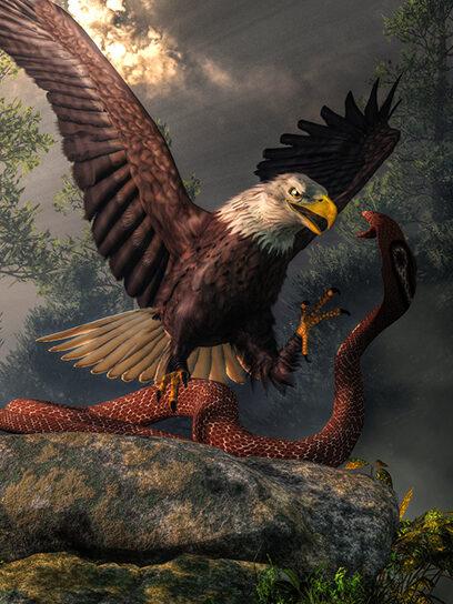 Etana, el águila y la serpiente